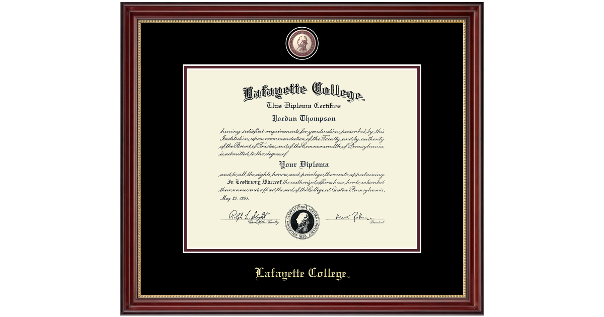 Lafayette College Masterpiece Medallion Diploma Frame In