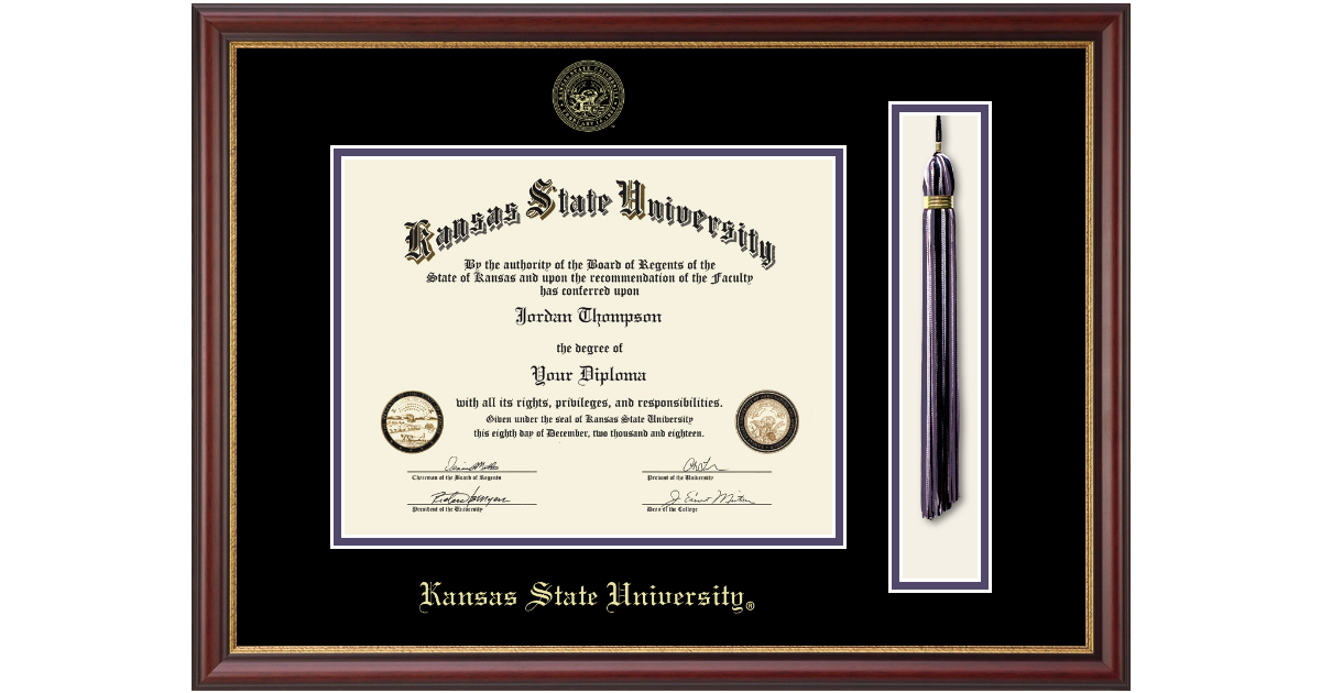 Kansas State University Tassel Edition Diploma Frame In