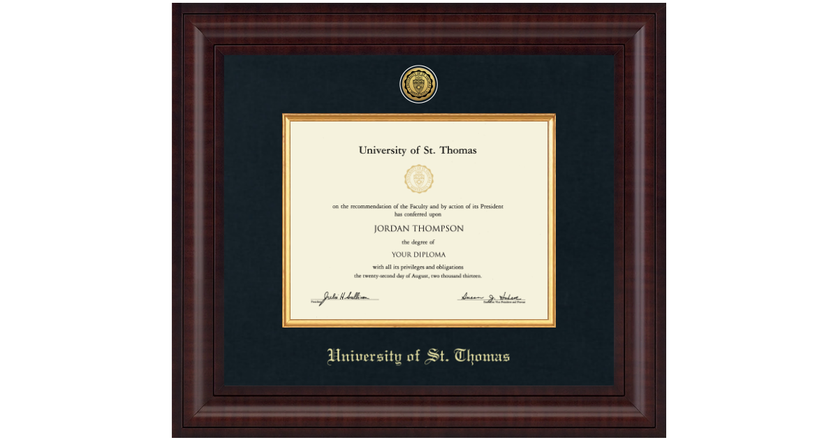 University Of St Thomas Presidential Gold Engraved