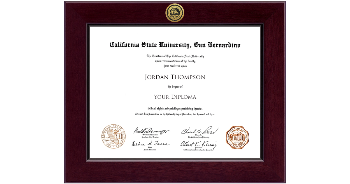 California State University San Bernardino Century Gold