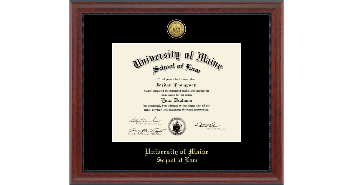 University Of Southern Maine Gold Engraved Diploma Frame In
