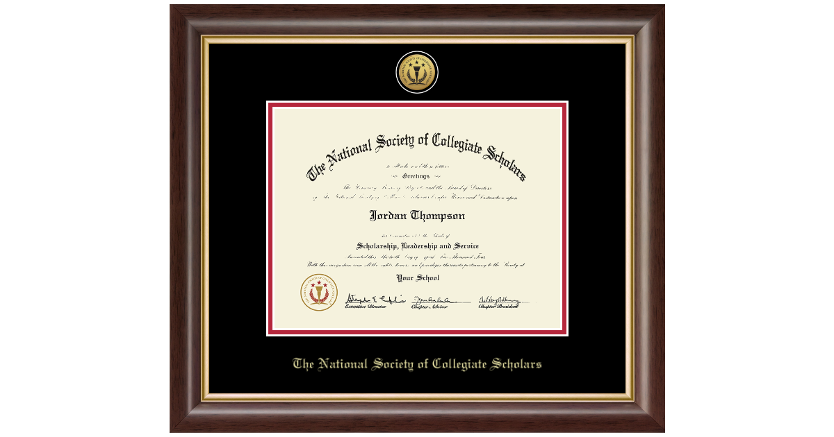 The National Society Of Collegiate Scholars Gold Engraved
