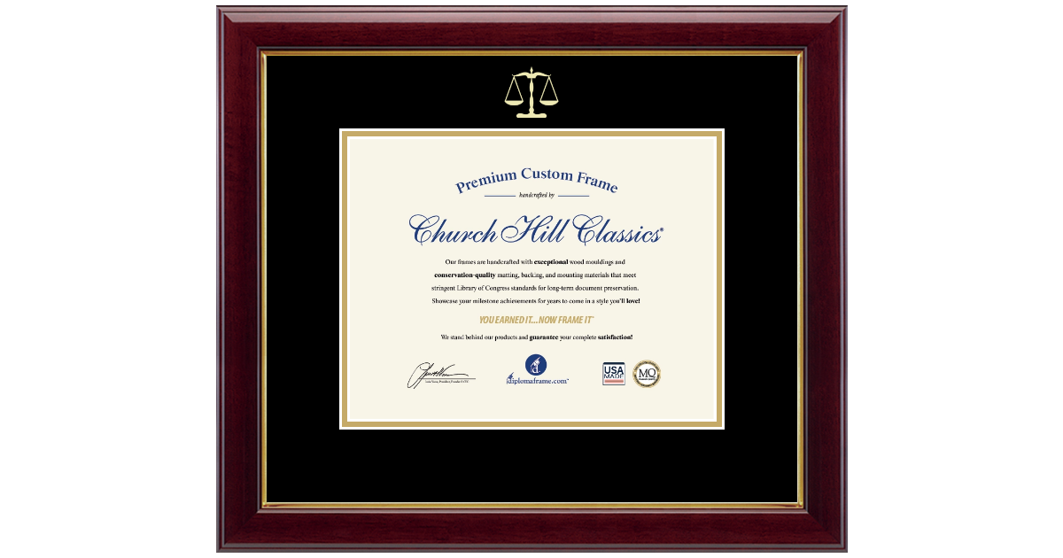 Legal Certificate Frames And Gifts Embossed Law