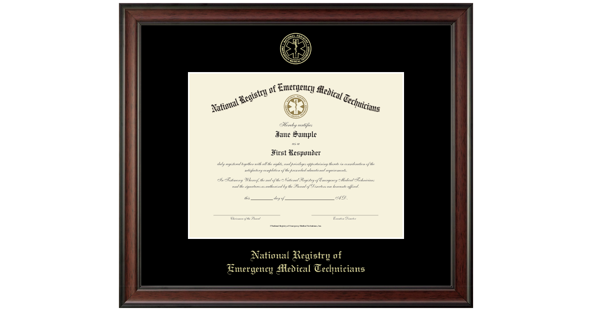 National Registry Of Emergency Medical Technicians Gold