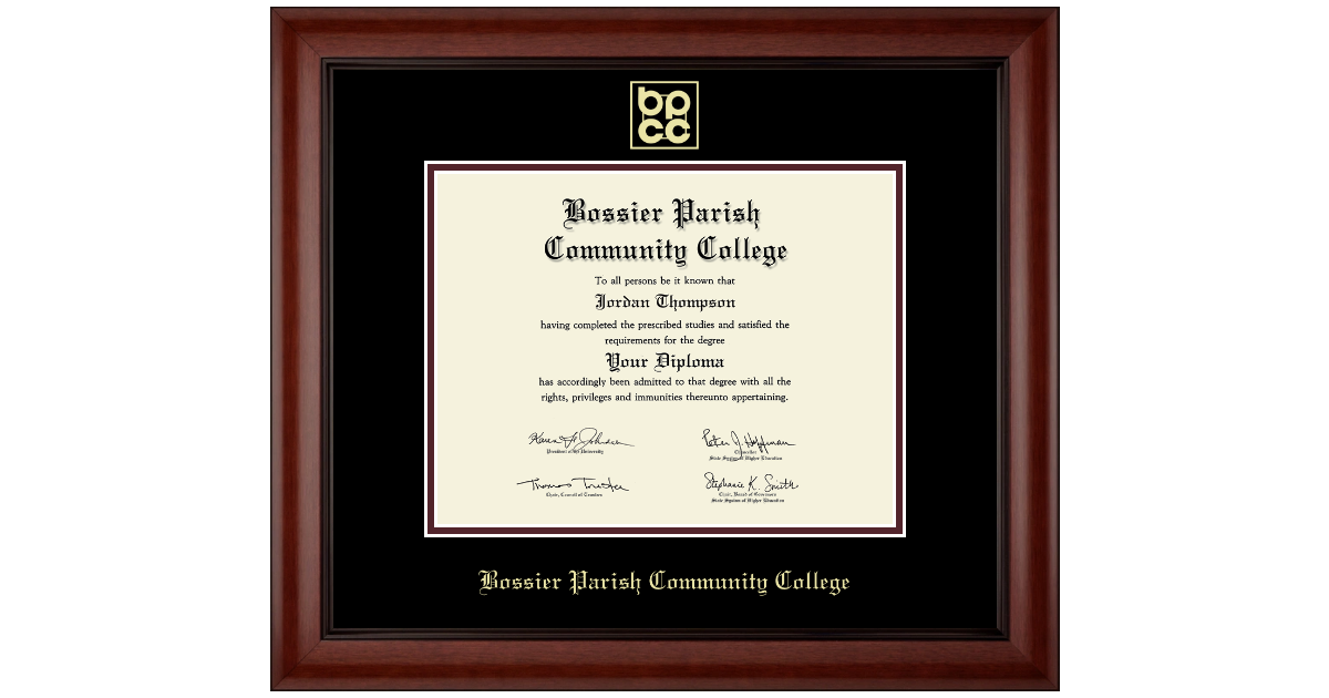 Bossier Parish Community College Gold Embossed Diploma