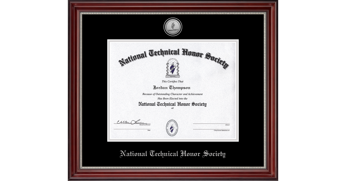 National Technical Honor Society Silver Engraved Medallion