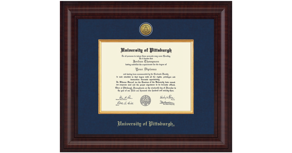 University Of Pittsburgh At Bradford Presidential Gold