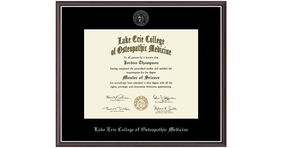Lake Erie College Of Osteopathic Medicine Masters Silver
