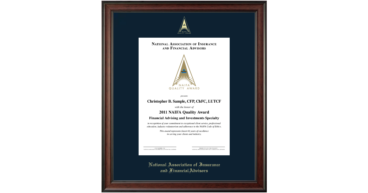 National Association Of Insurance And Financial Advisors Gold