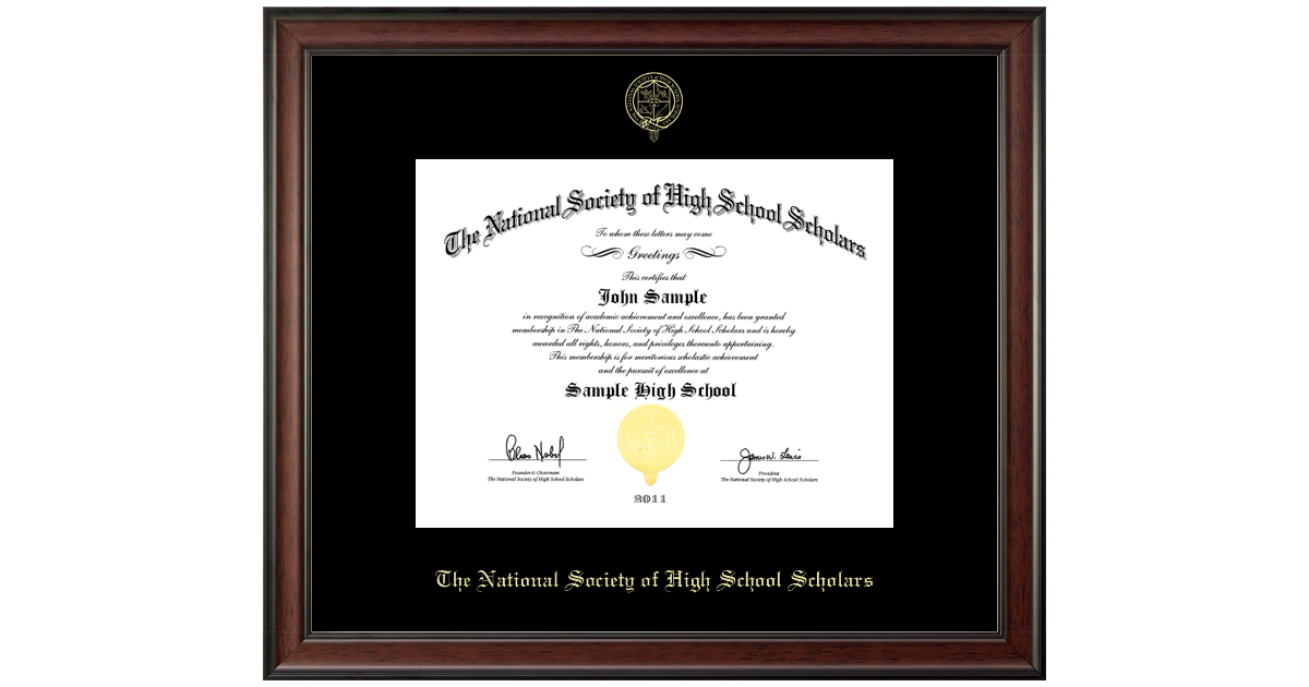 The National Society Of High School Scholars Gold Embossed