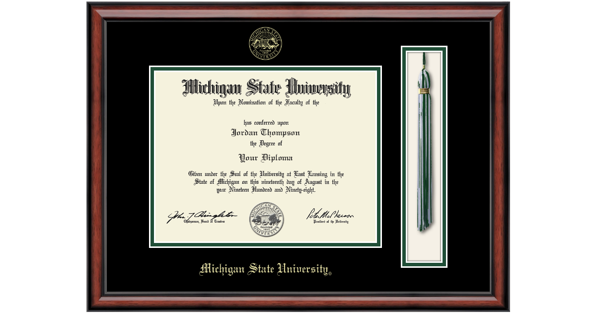 Michigan State University Tassel Edition Diploma Frame in Southport ...