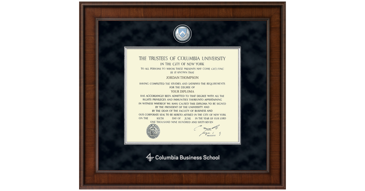 Columbia University Presidential Masterpiece Diploma Frame in ...
