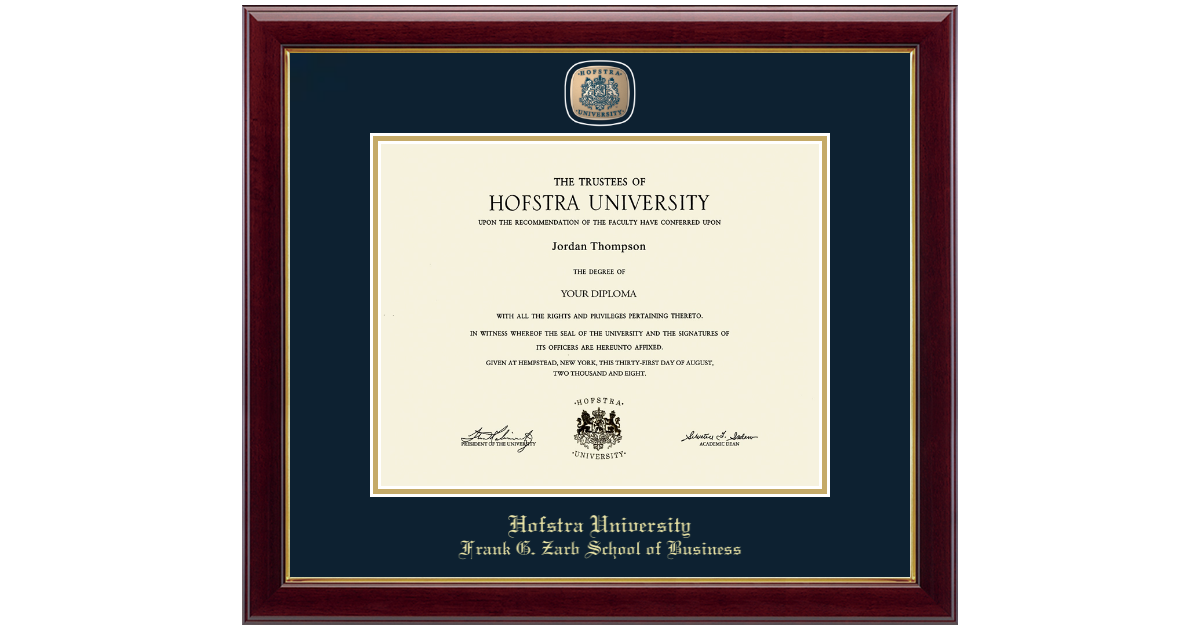 Hofstra University Masterpiece Medallion Diploma Frame In