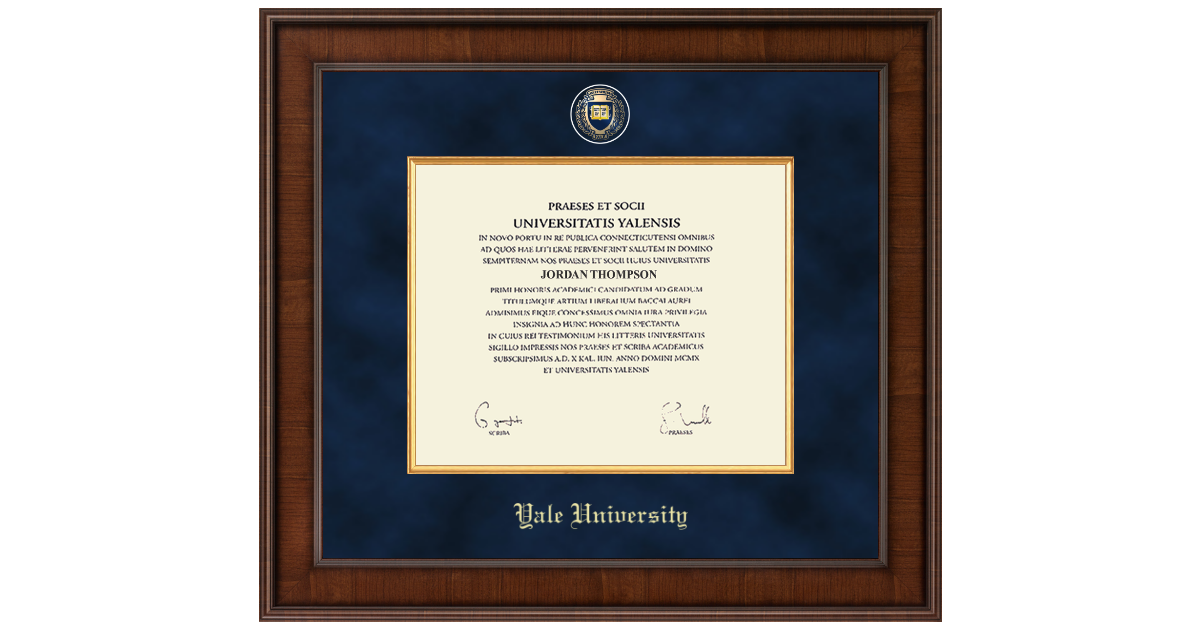 Yale University Presidential Masterpiece Diploma Frame in Madison ...