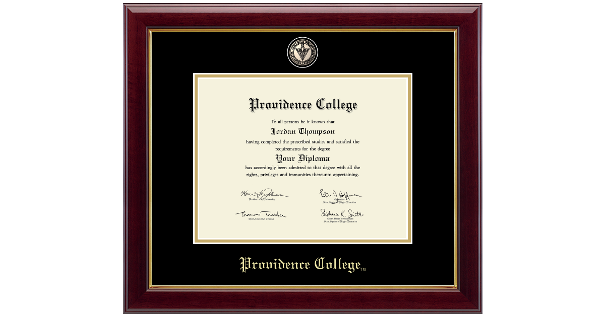 Providence College Masterpiece Medallion Diploma Frame In