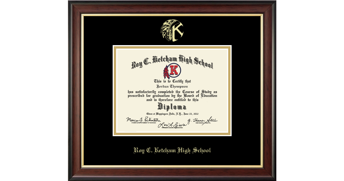 Roy C. Ketcham High School in New York Gold Embossed Diploma Frame ...