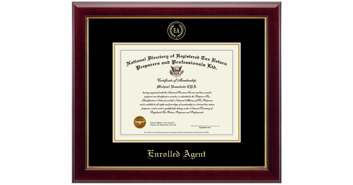 Ptin Directory Inc Enrolled Agent Gold Embossed