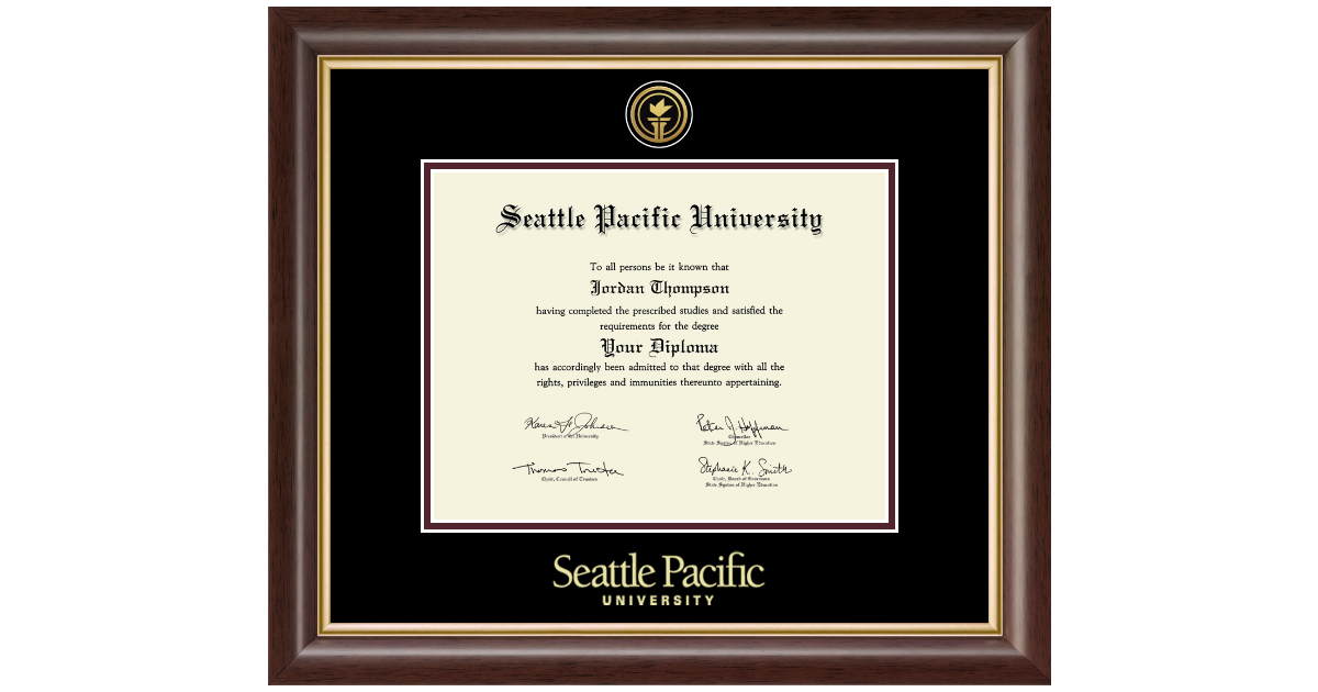 Seattle Pacific University Gold Engraved Medallion Diploma Frame in ...