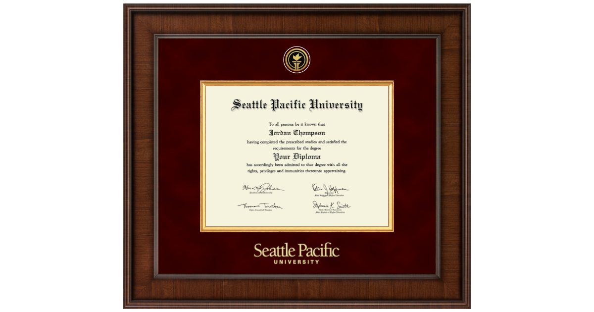 Seattle Pacific University Presidential Gold Engraved