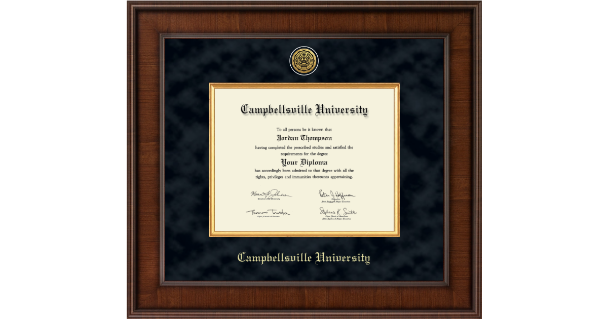 Campbellsville University Presidential Gold Engraved