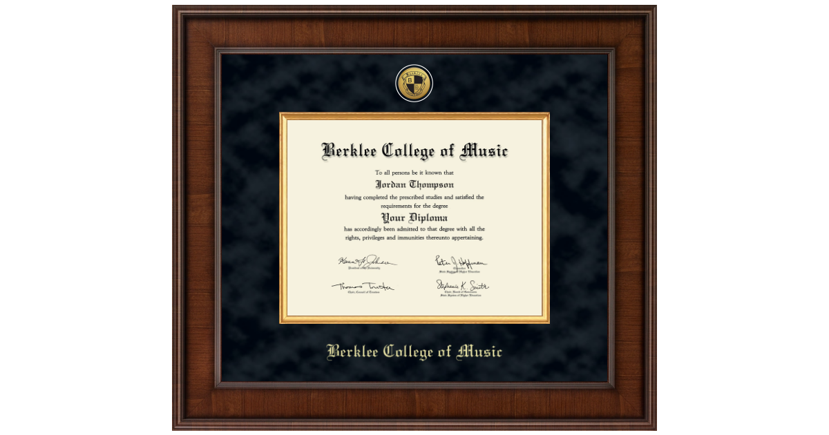 Berklee College Of Music Presidential Gold Engraved
