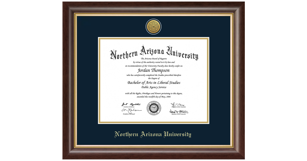 Northern Arizona University Gold Engraved Medallion