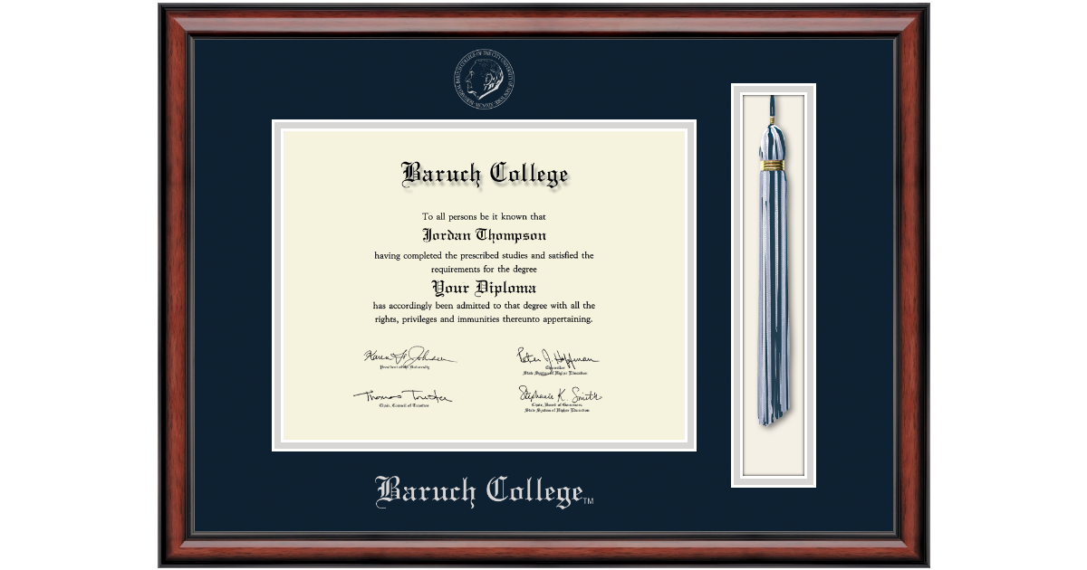 Baruch College Tassel Edition Diploma Frame in Southport - Item ...