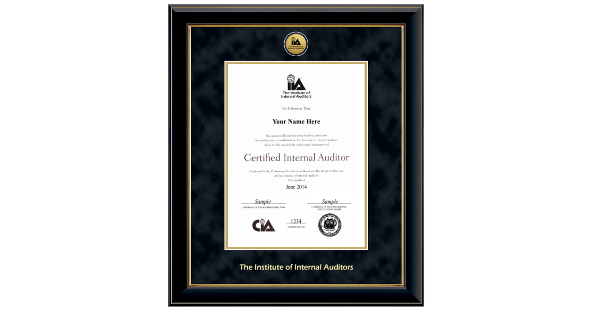 The Institute Of Internal Auditors Gold Engraved Medallion