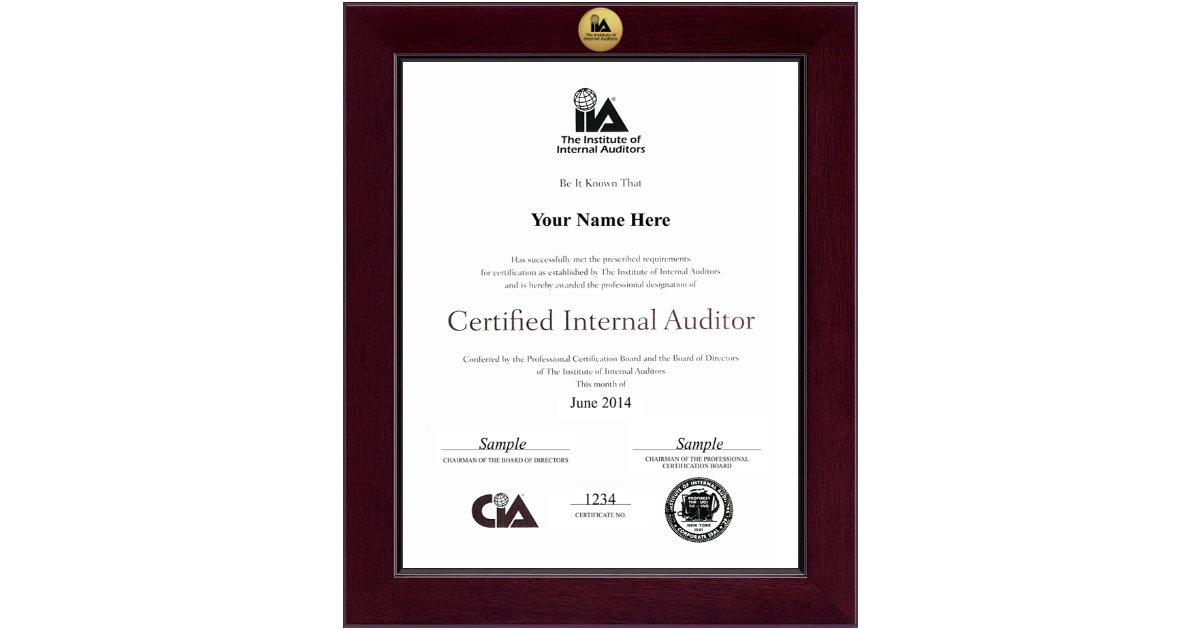 The Institute Of Internal Auditors Pre July 2012 Century Gold
