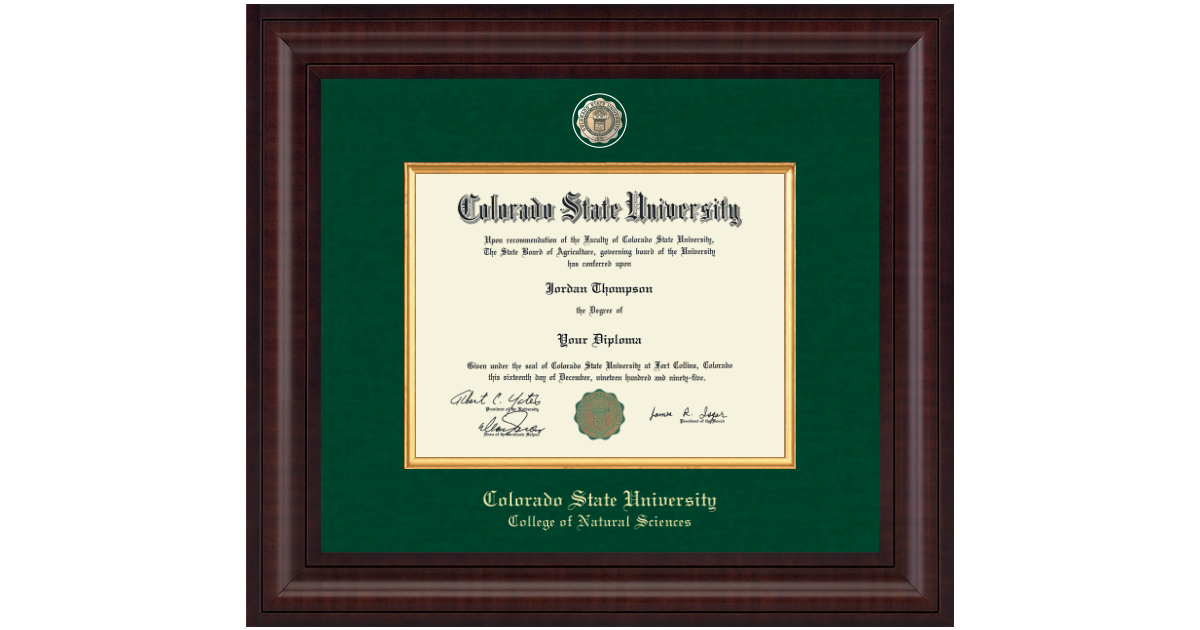Colorado State University Presidential Masterpiece Diploma Frame In