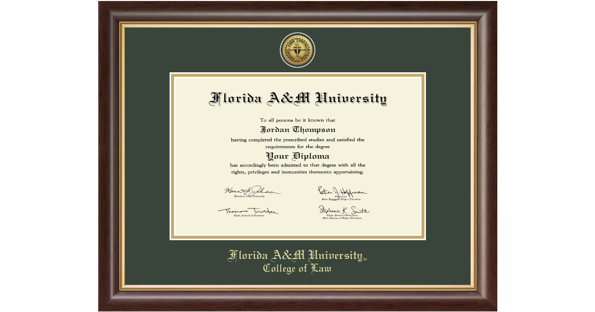 Florida A Amp M University Gold Engraved Medallion Diploma