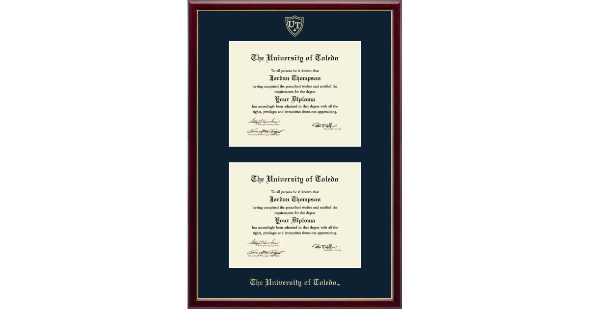 The University Of Toledo Double Diploma Frame In Galleria