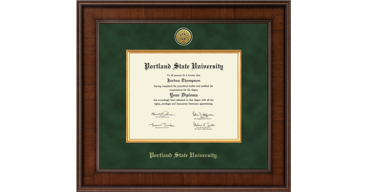 Portland State University Presidential Gold Engraved