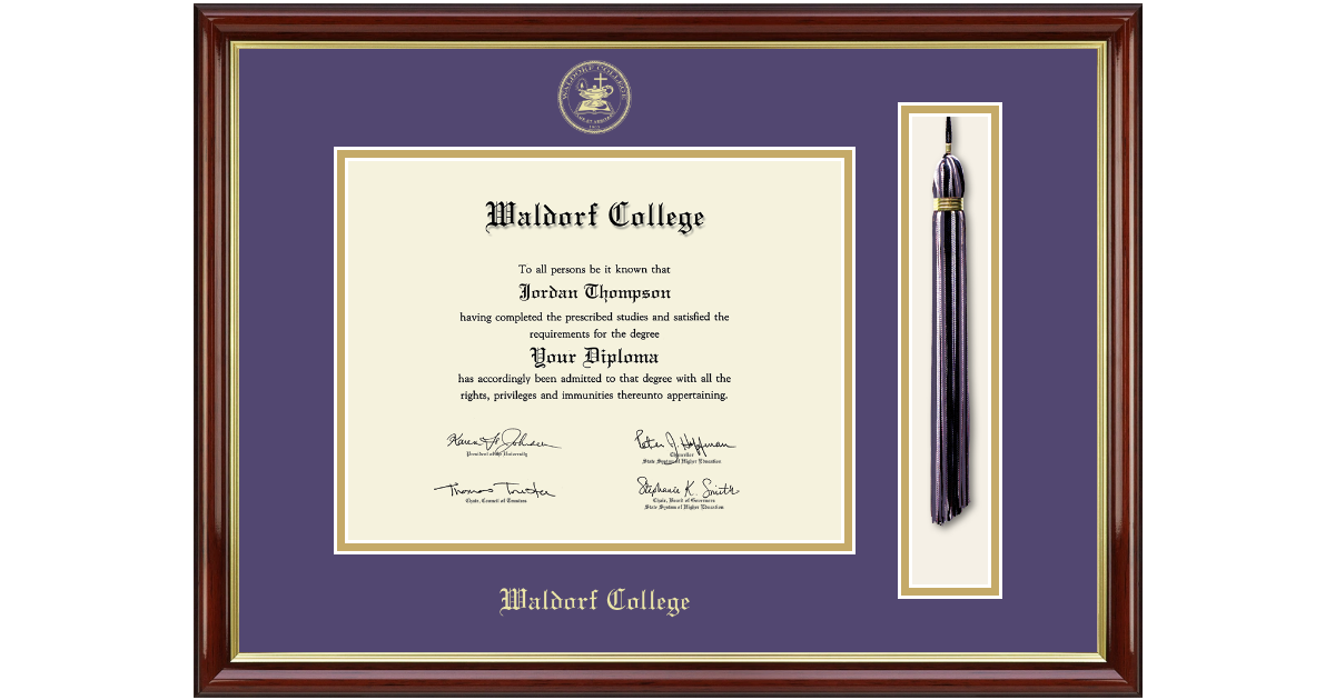 Waldorf College Tassel Edition Diploma Frame In Southport