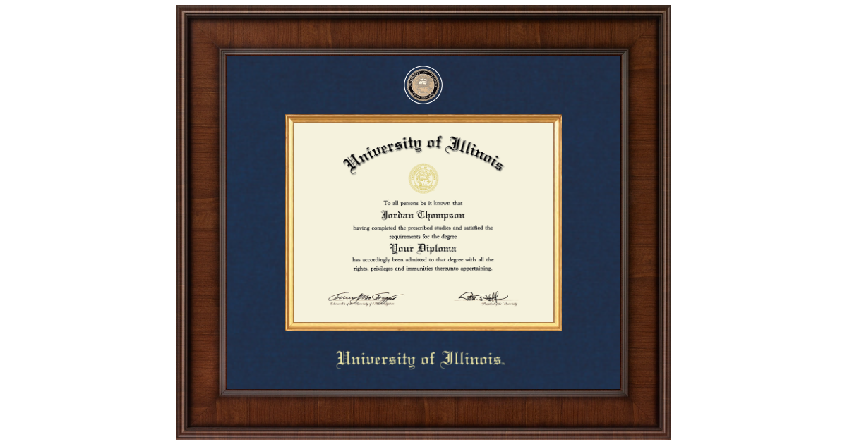University Of Illinois Presidential Masterpiece Diploma