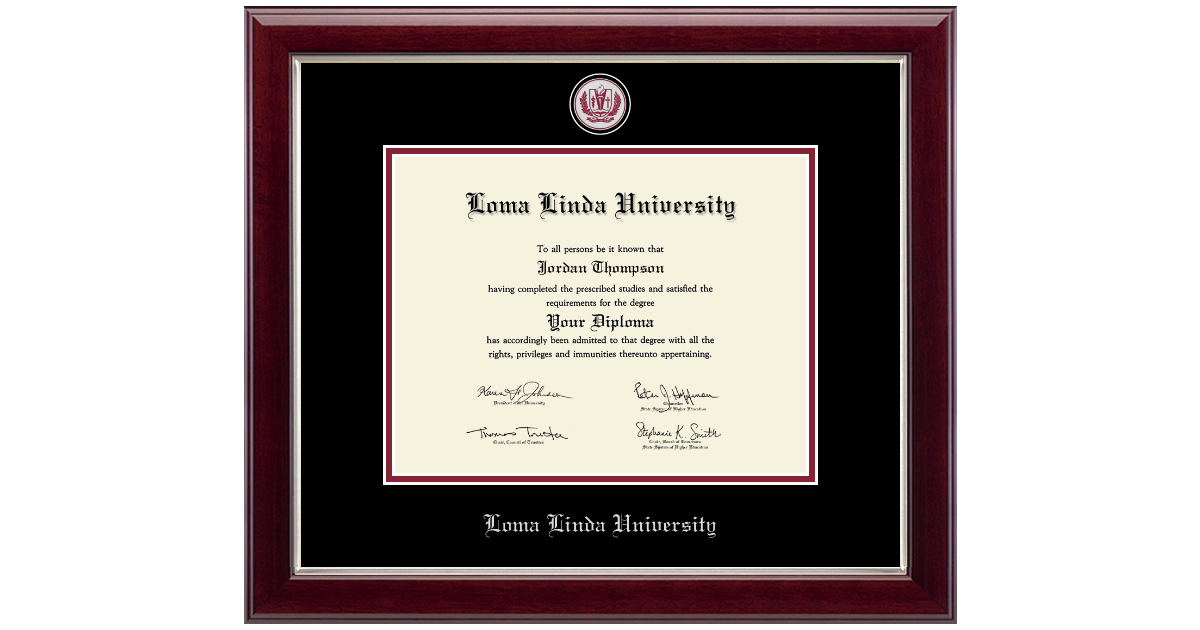 Loma Linda University Masterpiece Medallion Diploma Frame in Gallery ...