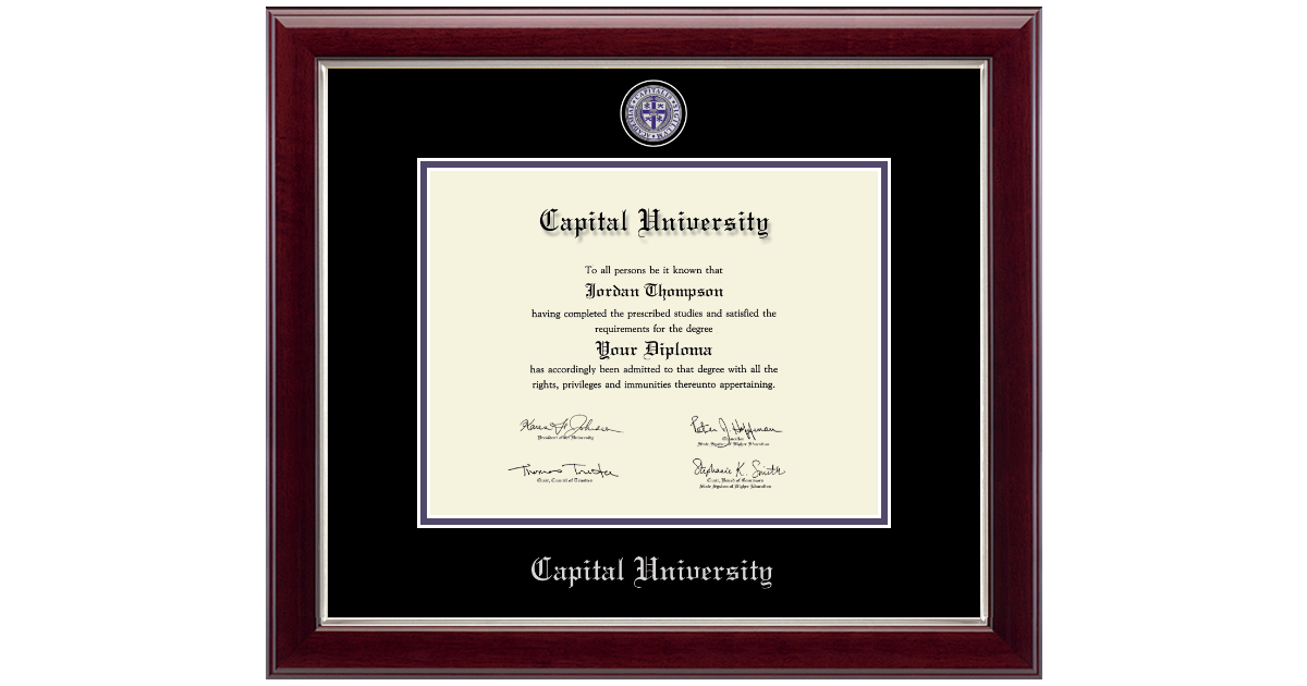 Capital University Masterpiece Medallion Diploma Frame in Gallery ...