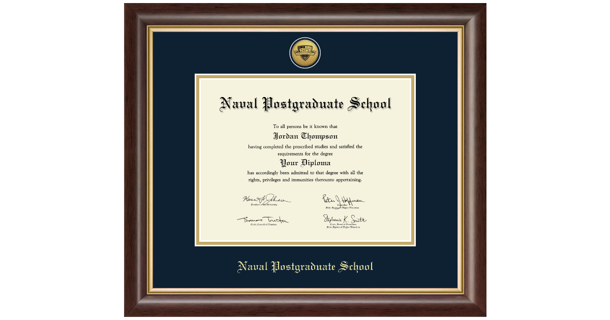 United States Navy Gold Engraved Medallion Certificate