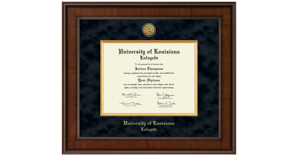University Of Louisiana Lafayette Presidential Gold