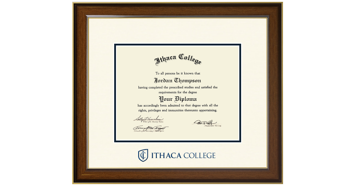 Ithaca College Dimensions Diploma Frame in Westwood - Item #275626 ...