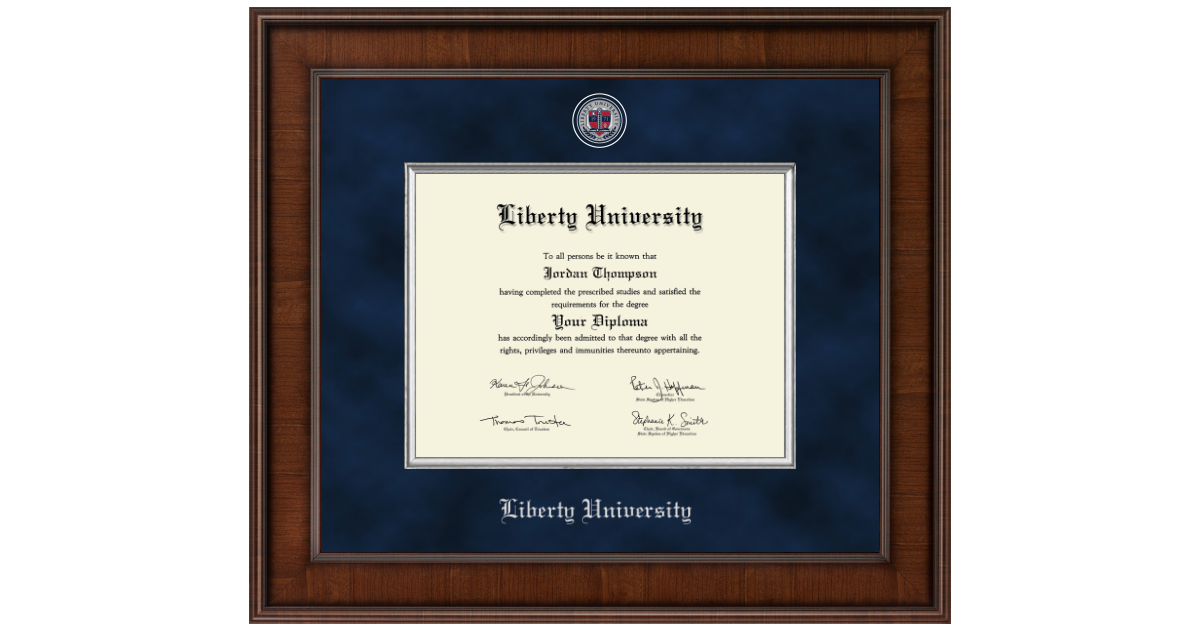 Liberty University Presidential Masterpiece Diploma Frame in Madison ...