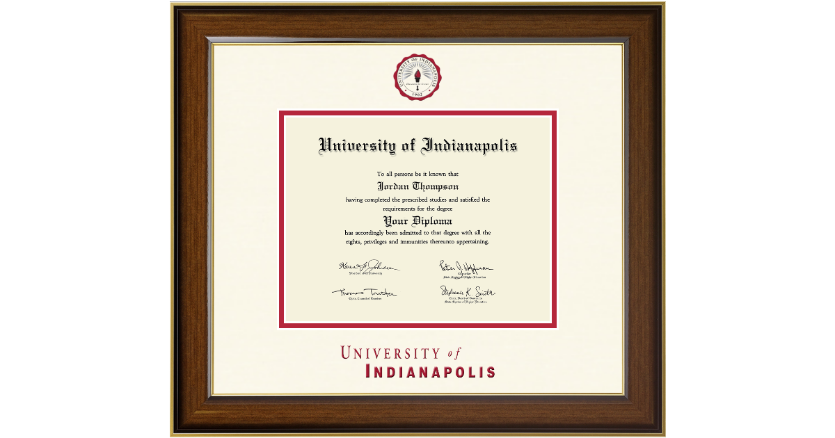 University Of Indianapolis Dimensions Diploma Frame In