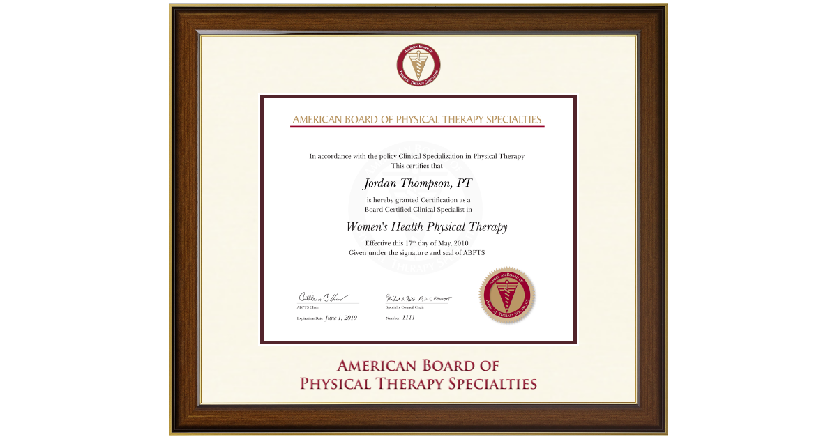American Board of Physical Therapy Specialties Dimensions ...