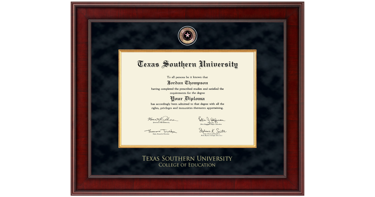 Texas Southern University Presidential Masterpiece Diploma Frame in ...