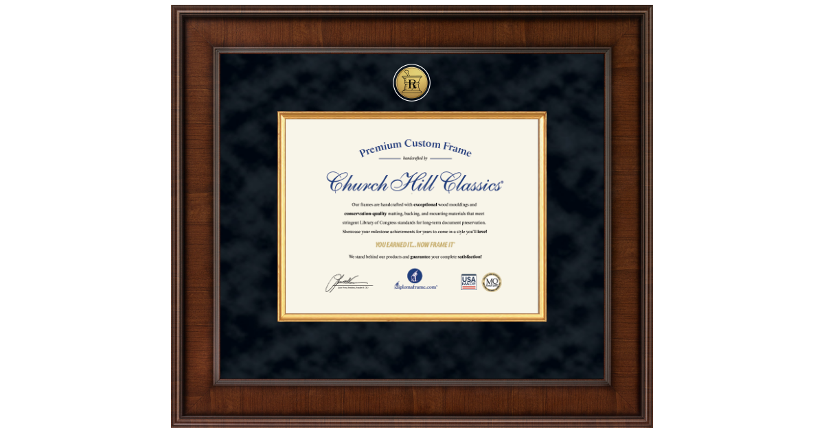 Pharmacy Certificate Frames and Gifts Presidential Pharmacy ...