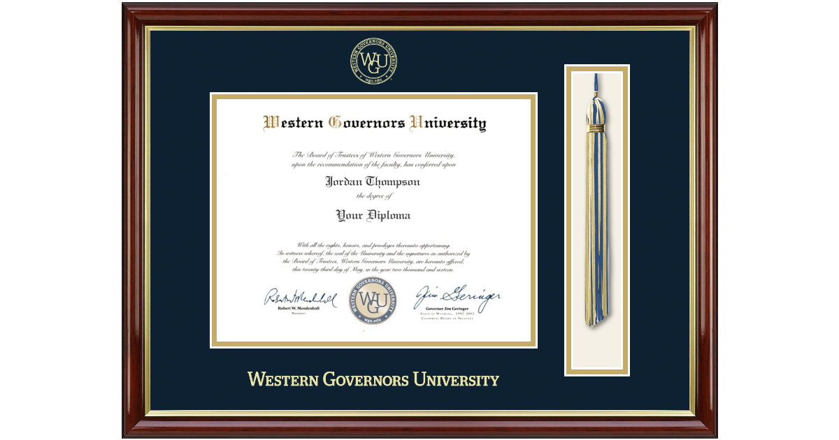 Western Governors University Diploma Frame